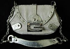 GUSSACI BORSA  BAG a mano/spalla  logo metallico con strass colore ARGENTO