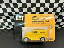 Ertl 1932 Ford Caterpillar Panel Delivery Truck - Yellow - 1:43 Diecast MIP