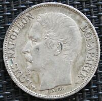 FRANCE 1 FRANC NAPOLEON 1852 A