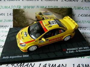 RIT40 Car 1/43 ixo altaya Rally: Peugeot 307 WRC Galli Arg 2006 Pirelli