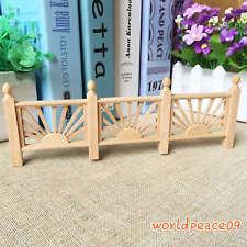 Dollhouse Miniature Unpainted Balcony Handrail Yard Stockade 1:12 Scale Model