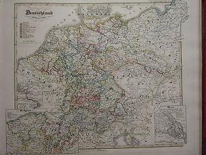 1846 SPRUNER ANTIQUE HISTORICAL MAP ~ GERMANY 1649-1792 VIENNA BELGIUM