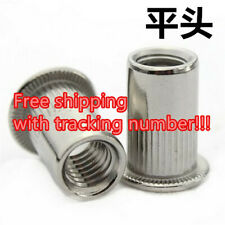 50pcs M6 Thread 304 Stainless Steel Flat Head Rivet Nut Rivnut Insert Nutsert SY
