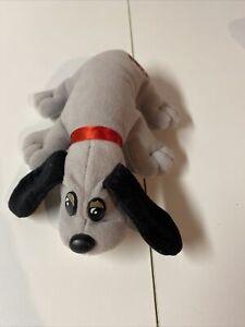Vintage Pound Puppies Grey Dog - Tonka 1986 Puppy 7 inches