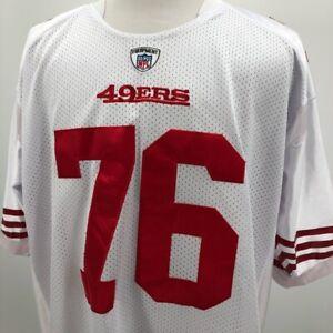 Anthony Davis 76 San Francisco 49ers Mens Reebok Jersey White Red Football  56
