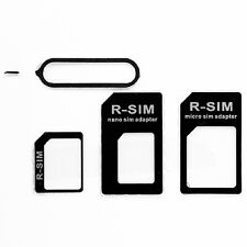 2pc 3 in 1 SIM Card Micro Standard Adapter Adaptor Converter Set For iPhone 5 4S