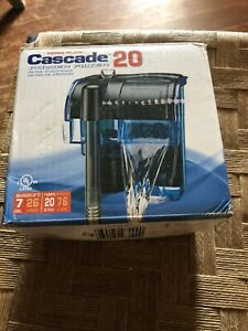 Penn-Plax Cascade Hang-on Aquarium Filter with Quad Filtration System Cleans Up