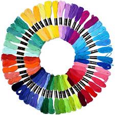 Embroidery Floss Rainbow Color 50Skein Cross Stitch Threads Friendship Bracel.