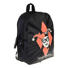 DC Comics - Black Harley Quinn Backpack - Batman School Bag/Rucksack - Xmas Gift