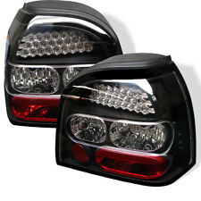 Volkswagen 93-98 Golf MK3 Black LED Rear Tail Brake Lights Lamp GTI TDI GL CL
