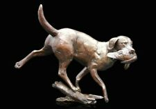 Working Labrador Dog Bronze Foundry Cast Sculpture by Michael Simpson [1015]