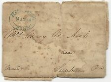 US Stampless Cover Folded Letter Harrisburg, PA May 13, 1819