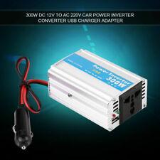 300W 12V to 220V Car Power Inverter Converter USB Charger Adapter Aluminum UK