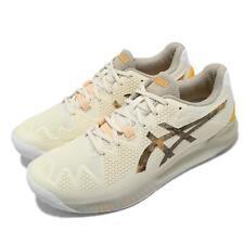 Asics Gel-resolución 8 L.E. Retro Tokyo Ivory Crema hombres Tenis Zapato 1041A220-101