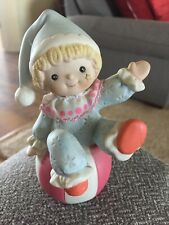 Hard To Find Vintage Adorable Cute Home Interior Homco 1451 Kid Children'S Clown