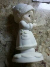 """Precious Moments Figurine """" May Your Christmas Be Merry"""". Dated 1991. With Box"""
