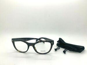 Prada Eyeglasses VPR 21S 2AU-101 HAVANA BROWN 51 19 140/ POUCH