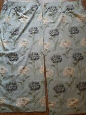Laura Ashley Home Ruskin Curtains Duck Egg Blue HTF Lined vintage floral