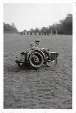 Testfahrt Motorrad - Gespann Soldaten Wehrmachts Foto