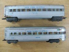 O gauge Marx Lot - New York Central 3557 Passenger Car & NYC Observation 3558