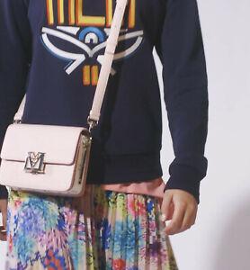AUTH NWT $925 MCM Mena Visetos Leather Block Shoulder Bag In Powder Pink NEW
