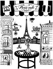 Vinyl Wall Decal Sticker Decor Cafe Restaurant Paris Coffee Food Tea Logo F1470