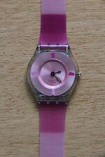 Rare SWATCH Wrist SKIN Watch for Women, PINKY PINK. Spring collection 2004