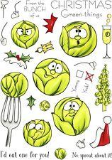 Hobby Art Verde Navidad-las cosas claras sello conjunto A5