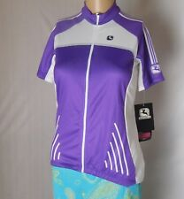 Giordana Fiat Fit Women's Top Size M Silverline Jersey Full Zip Front Purple