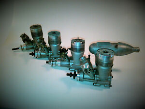 4 VINTAGE K&B 40 RC ENGINES 2 ARE RUNABLE AND 2 FOR PARTS OR REFURBISH
