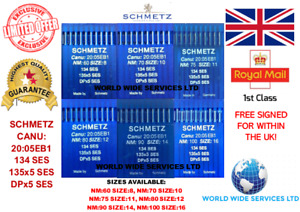 SCHMETZ DPX5SES 135X5SES 134SES SIZES:8/16 INDUSTRIAL SEWING MACHINE NEEDLES