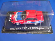 voiture miniature métal collection 1/43, altaya, triumph tr 7 v 8 manx rallye 19