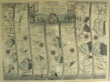 John OGILBY (1600-1676) - Road From Carmarthen to Cardigan - Kupferstich