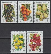 Irak Iraq 1980 ** Mi.1053/57 Freimarken Definitives Früchte Fruits Äpfel Apples