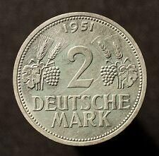 2 Dm Münzen Der Brd 1951 Ebay