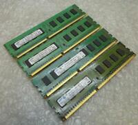 4GB Kit Samsung M378B2873FHS-CH9 PC3-10600U 1Rx8 DDR3 Non-ECC Computer Memory