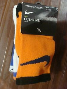 NIKE YOUNG ATHLETES CUSHIONED CREW SOCKS 3PACK