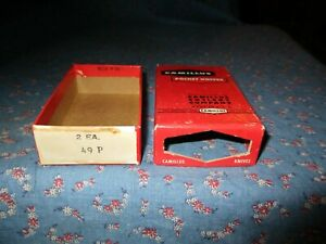Camillus Pocket Knives  Number 49P 2 EA.  BOX ONLY   3 3/4 x 2 1/4 x 1 In