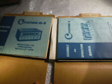 HARMON KARDON CITATION 3-x and 2 ii assembly and operation manual
