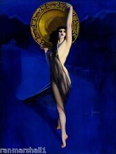 1940s Pin-Up Girl The Enchantress Picture Poster Print Vintage Art Pin Up