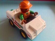 Lego Duplo Toy Figure - Vintage Lego Duplo Octan Car & Figure Playset - GR8!!!