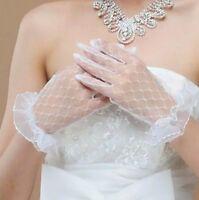 Handschuhe Braut Kurz Spitze Brauthandschuhe Hochzeitshandschuhe Accessoires