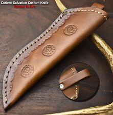 Custom Handmade 7.5'' Leather Sheath Fixed Blade Knife