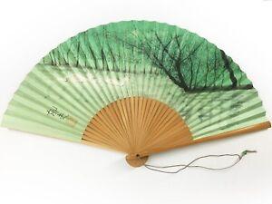 Vintage Japanese 'Sensu' Asahi Seimei Folding Fan Ducks on a Pond: Nov17I