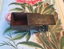 Primitive Early 1800s Carved Dove Tailed Handmade Snuff Box