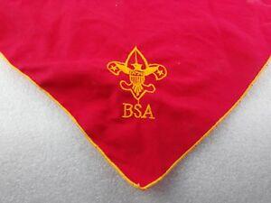 Boy Scouts Of America Bandana BSA Uniform Red With Yellow Scout Bandana R1
