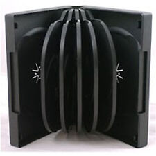 10 X CD DVD 39mm Black DVD 12 Way Case for 12 Disc - Pack of 10