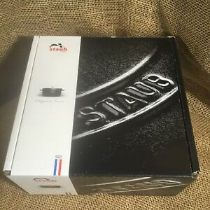 BOX ONLY Staub La Theiere Black Matte Enameled Cast Iron Tea Pot Kettle Box Gen