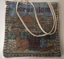JERUSALEM TAPESTRY TOTE BAG W/ZIPPER new in sealed bag 14x13