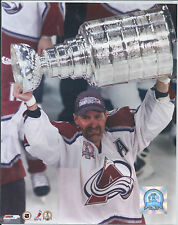 Ray Bourque Colo Av's 00/01 Stanley Cup Champs 8X10 Photo Raising the Cup